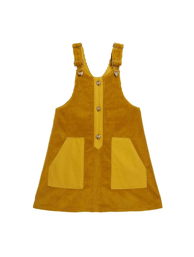 Corduroy Overall Dress  Saffron