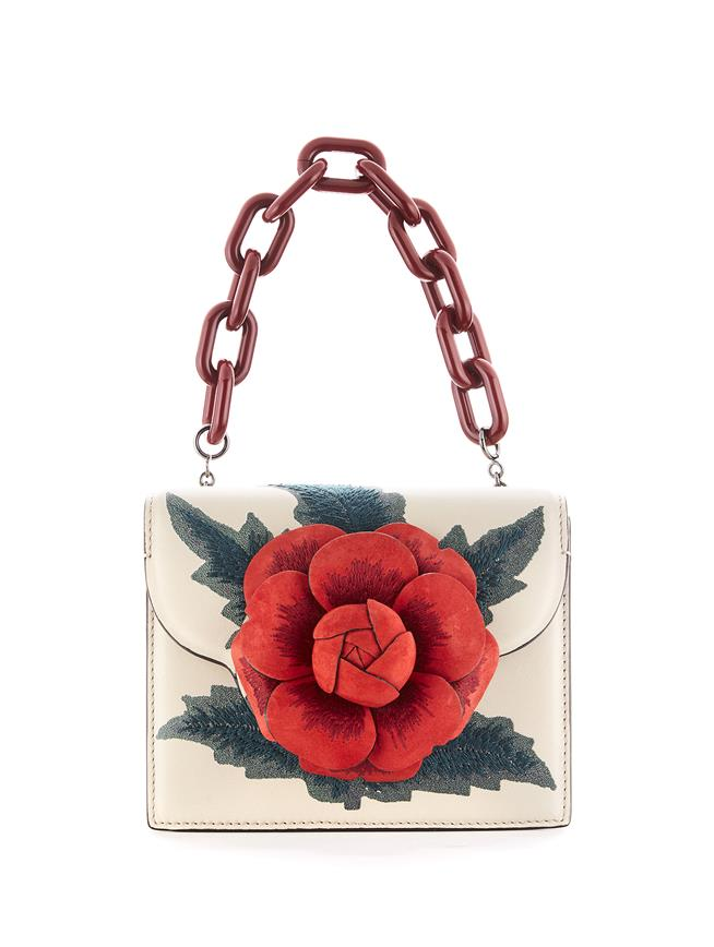 Embroidered Mini TRO Bag  Ivory Multi