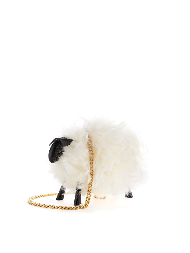 Juice the Sheep Shearling Bag   Ivory