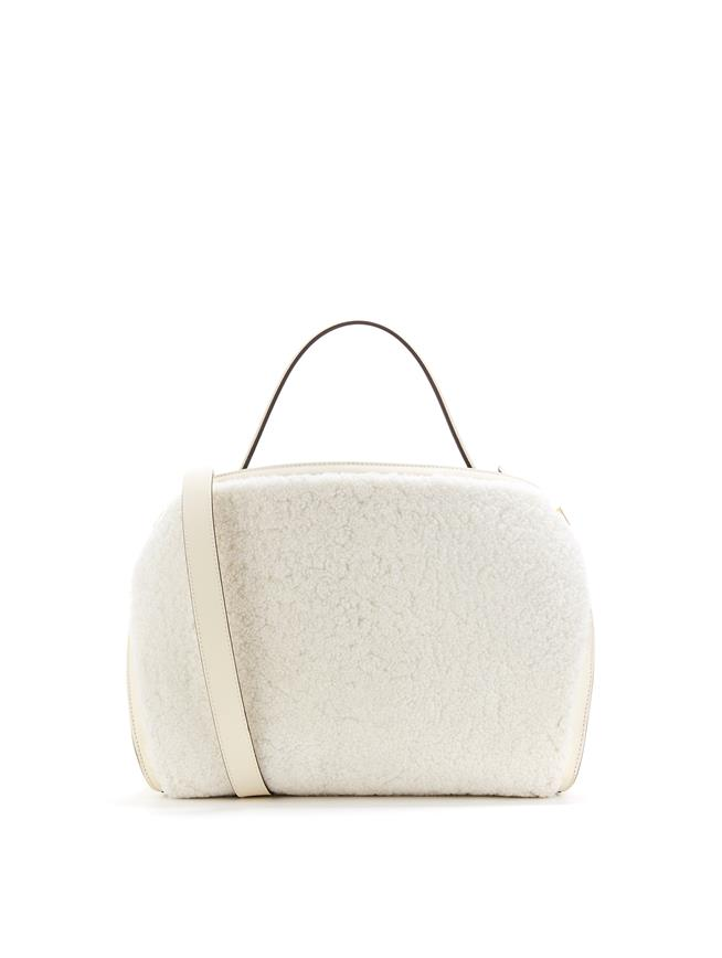 Shearling Baby Nolo Bag  Ivory