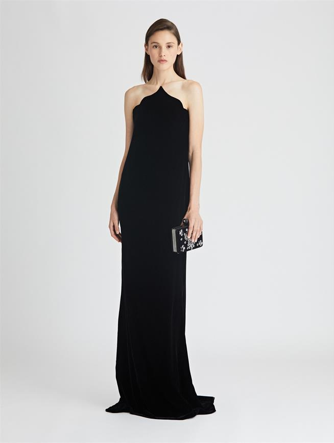 Arabesque Velvet Gown  Black