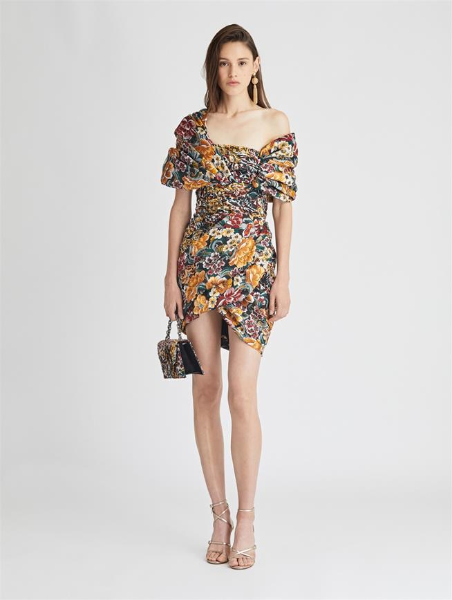 Floral Fil CoupÉ Cocktail Dress  Juniper Multi