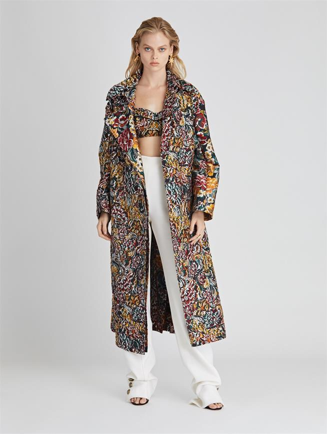 Floral Fil CoupÉ Coat  Juniper Multi