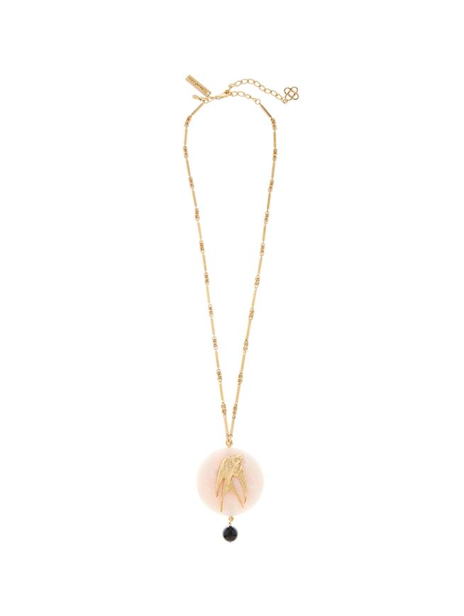 Swallow Stone Necklace  Ivory