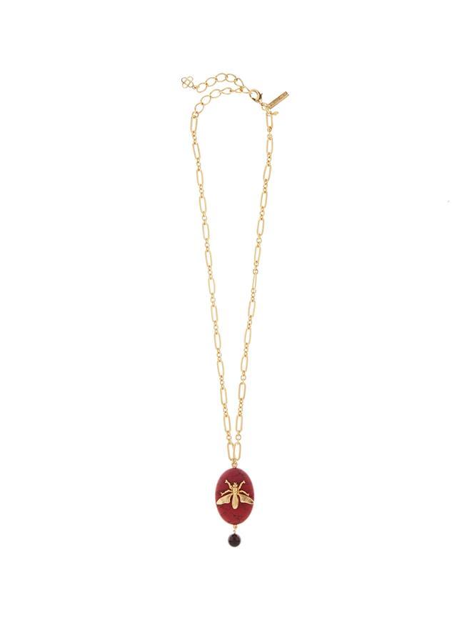 Fly Stone Necklace  Cayenne