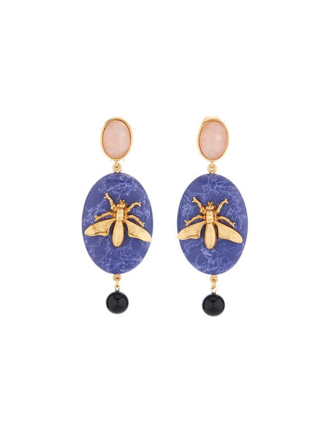 Fly Stone Earrings  Marine