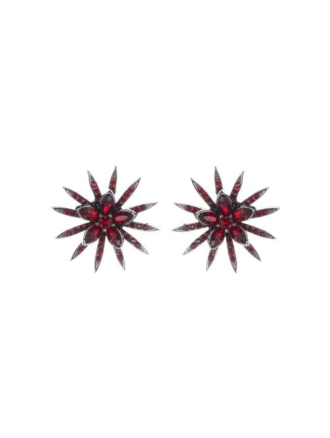 Pavé Point Stud Earrings  Cayenne