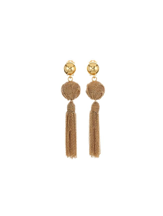 Chain Tassel Earrings  Gold