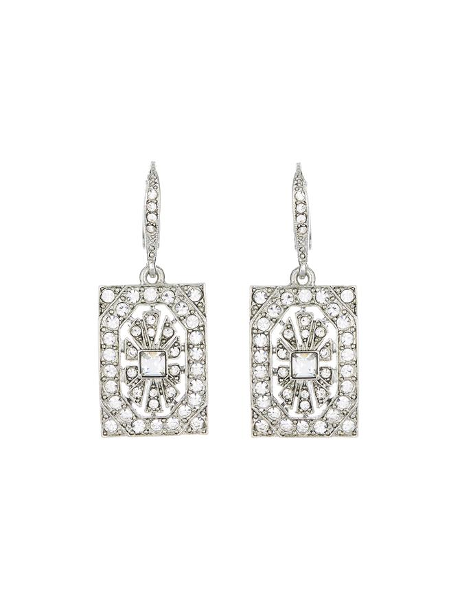 Crystal Square Earrings  Crystal