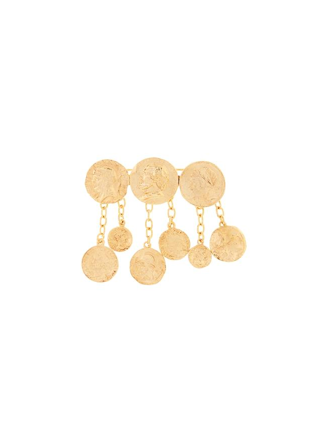 Coin Brooch  Gold