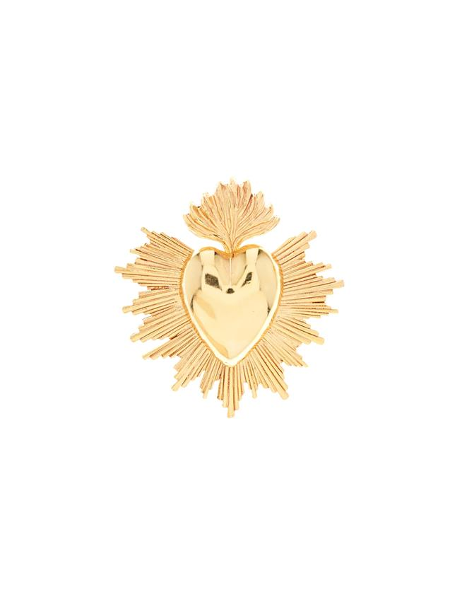 Sacred Heart Brooch  Gold