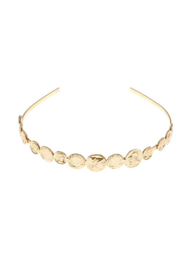 Coin Headband  Gold