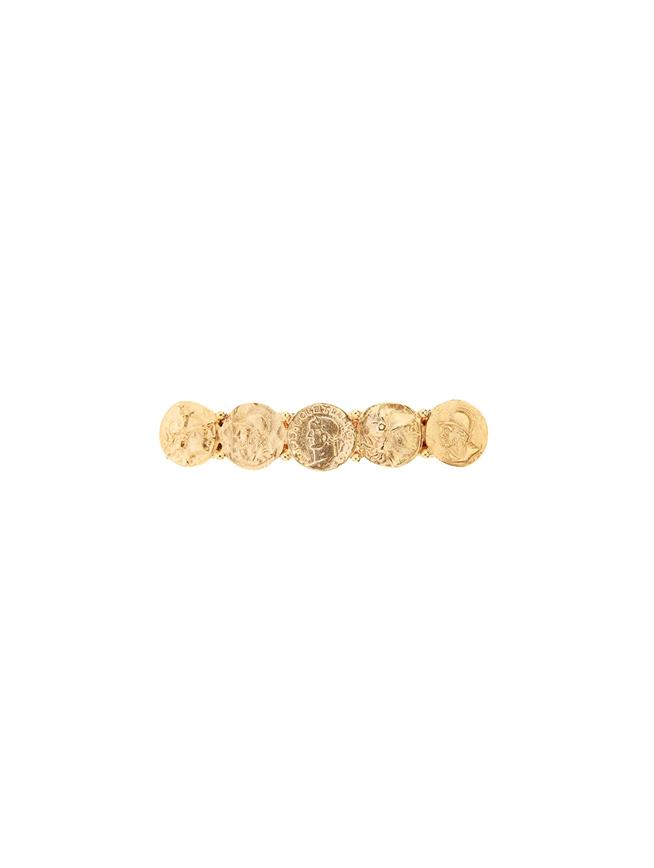 Coin Barrette  Gold