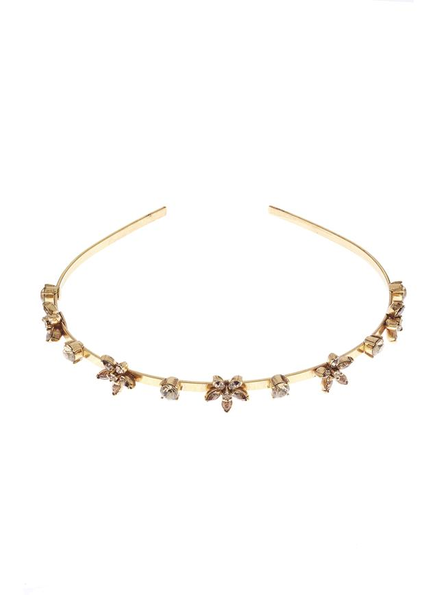 Crystal Star Headband  Light Topaz