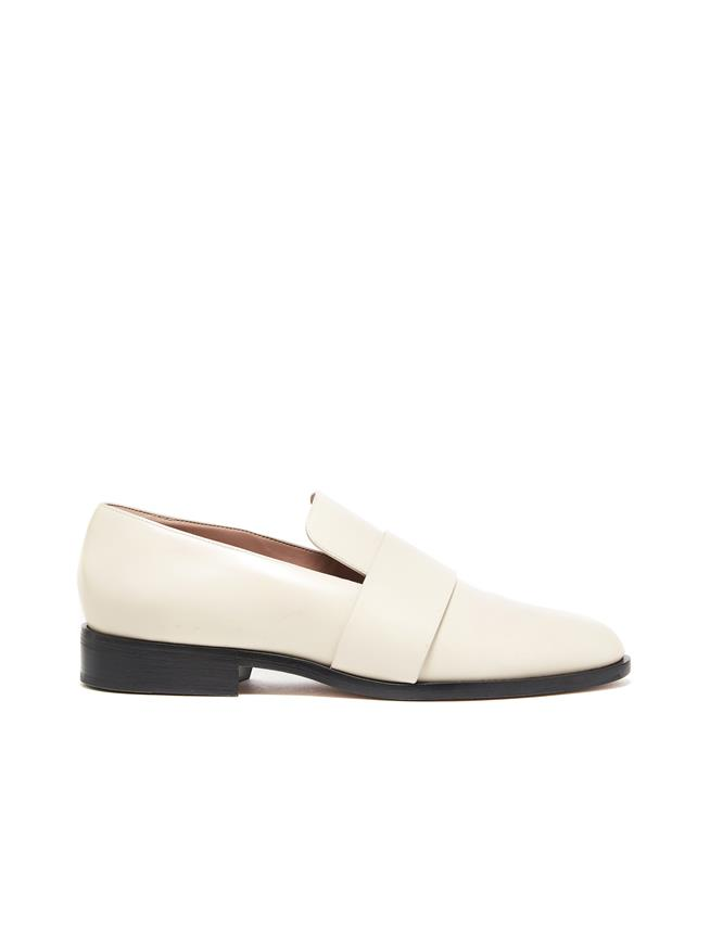 Ivory Leather George Loafers Ivory