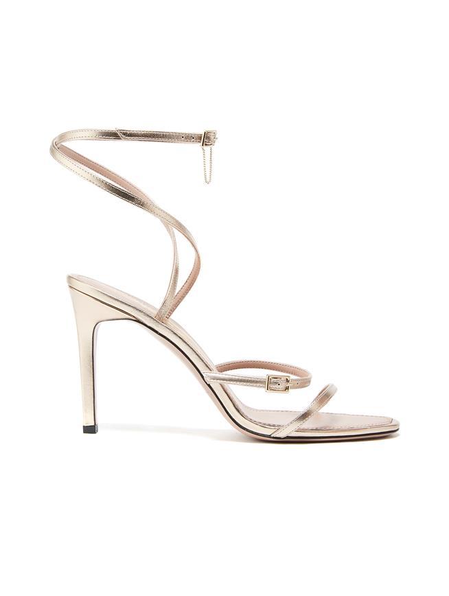 Ruby Asymmetric Sandals Silver