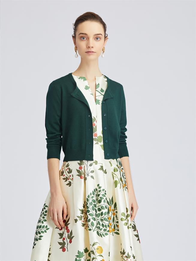 Spruce Cashmere and Silk-Blend Cardigan Spruce