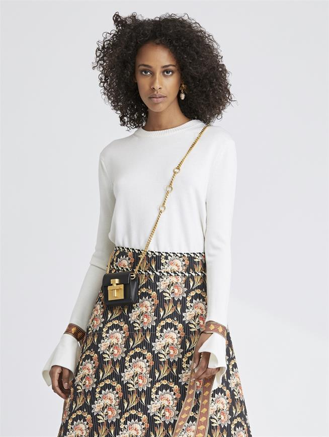 Merino and Silk Pullover Ivory