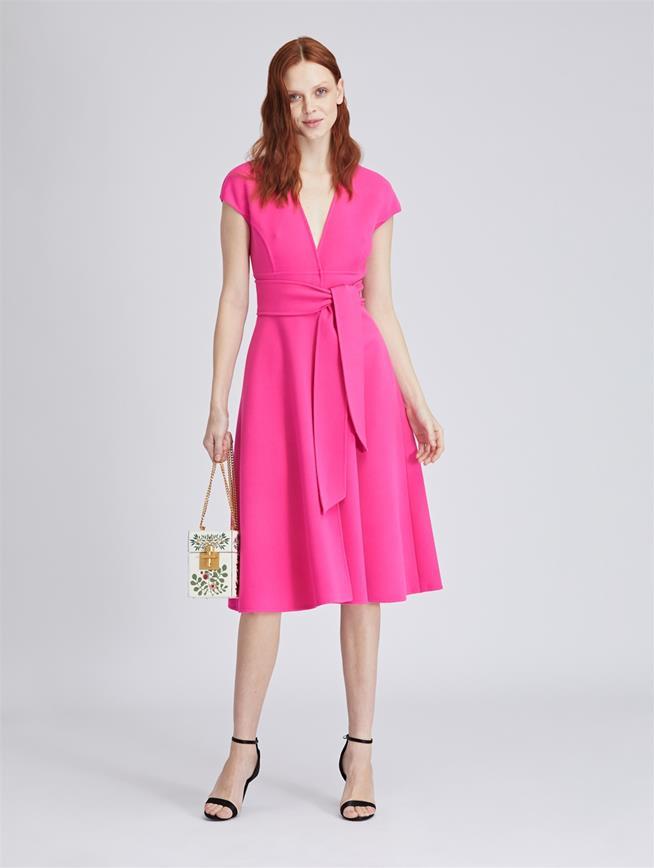 Stretch-Wool Cady Dress Primrose