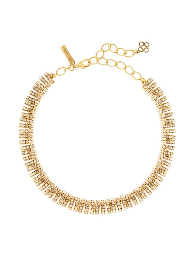 Pavé Caterpillar Necklace  Cry Gold Shadow