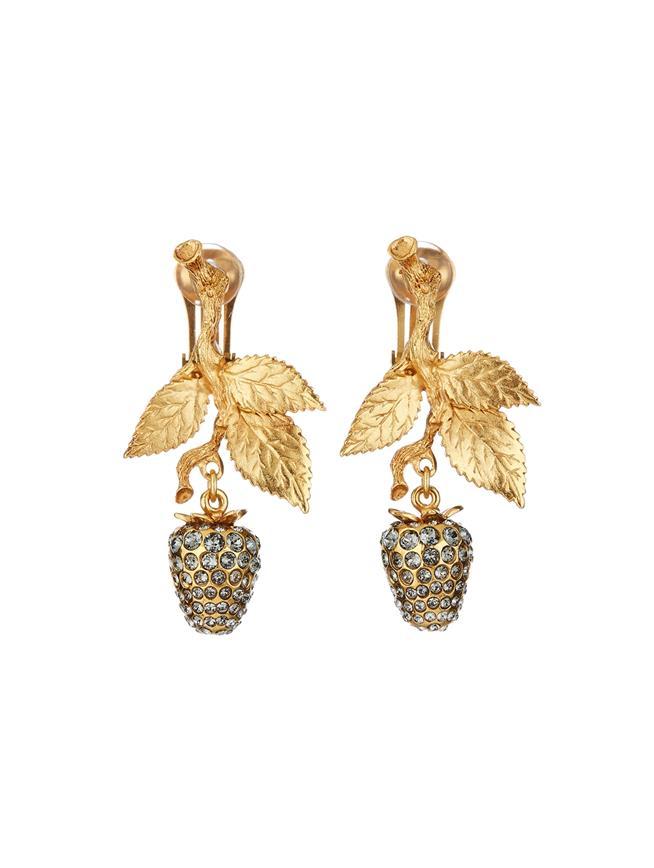 Pavé Berry Earrings  Black diamond