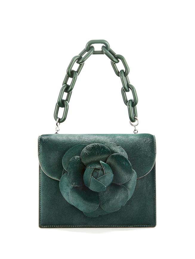 Spruce Calf Hair Mini TRO Bag Green