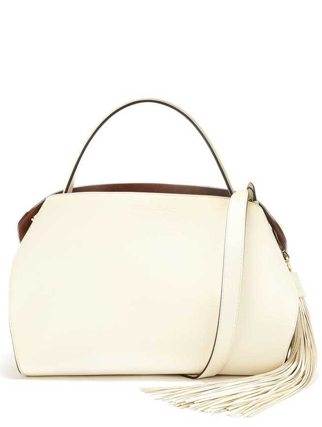 Ivory Leather Nolo Bag Ivory