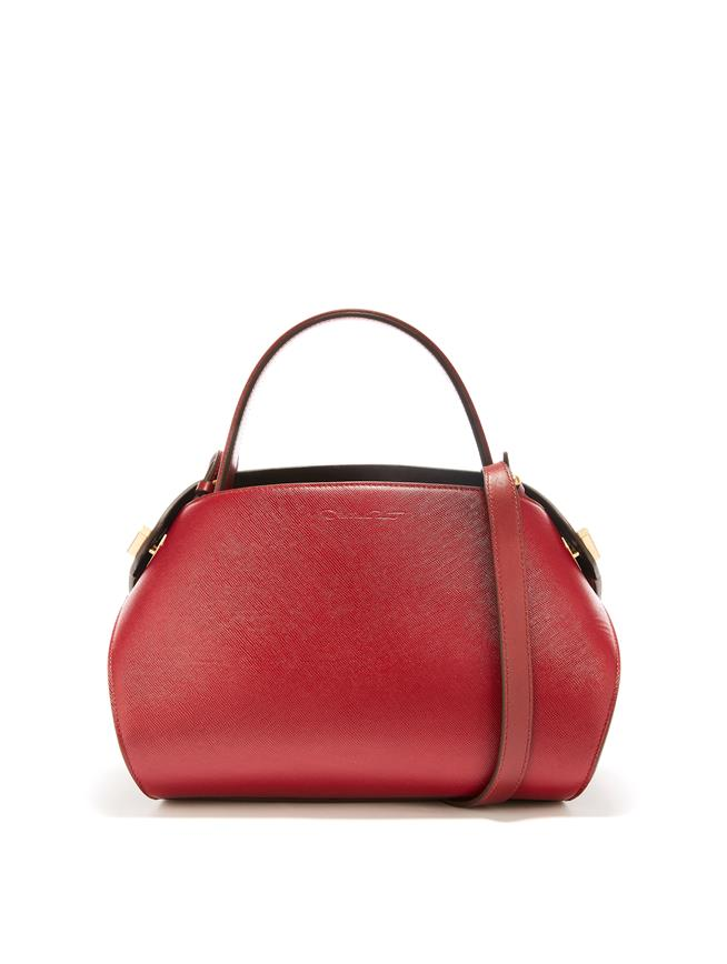 Cranberry Leather Baby Nolo Bag Cranberry