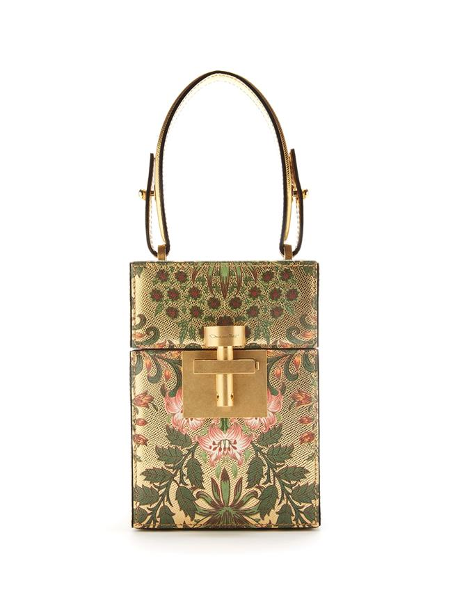 Printed Metallic Leather Alibi Bag Multi
