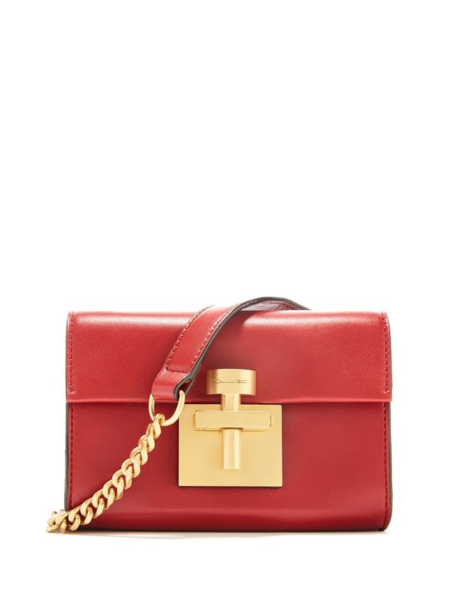 Cranberry Leather Alibi Belt Bag Red
