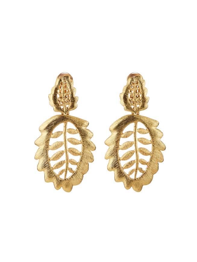 Bischoff Lace Earrings  Gold