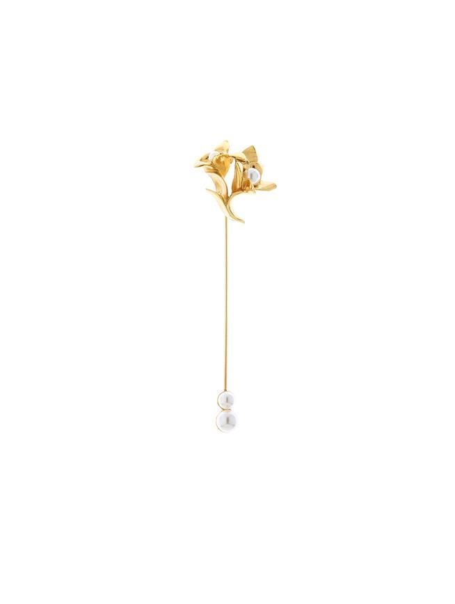 Pearl Flower Brooch  Gold
