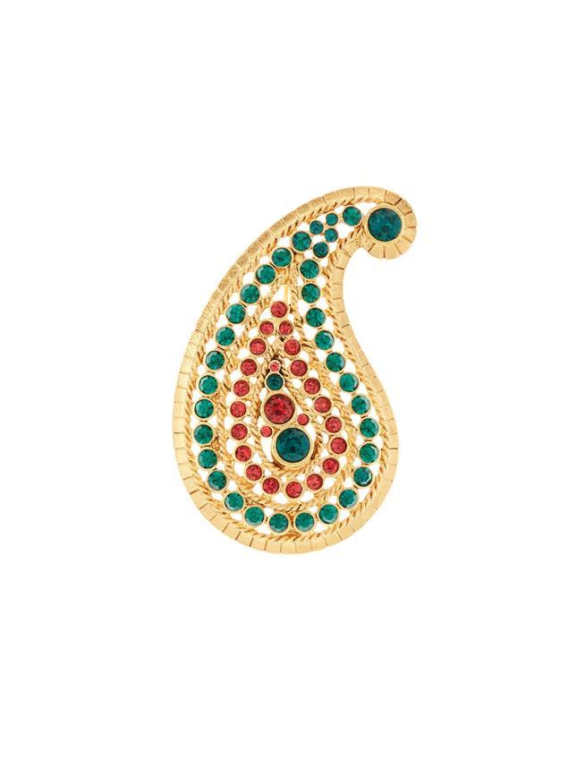 Taj Small Brooch  Emerald