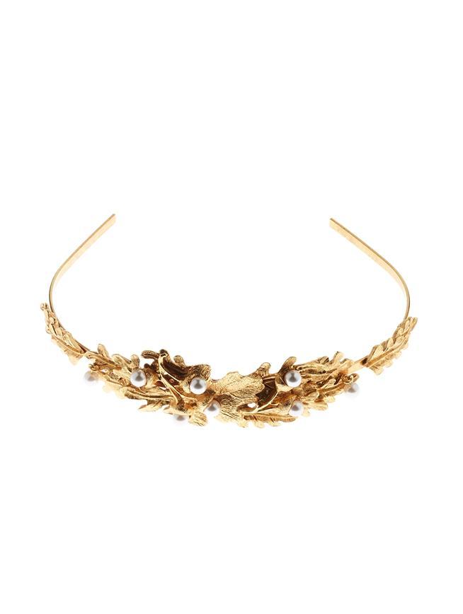 Acorn Headband  Gold