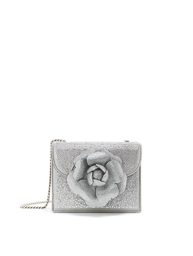 Crystal Swarovski Mini TRO Bag  Silver