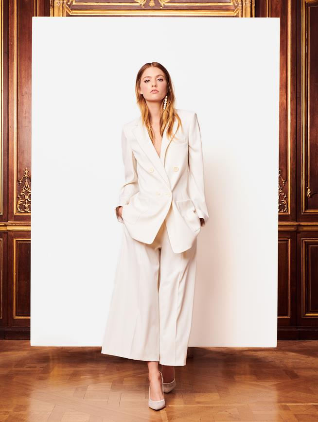 Fall 2018 Look 2 Culottes Ivory