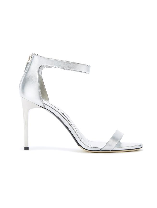 SILVER LEATHER ANGE SANDALS Silver