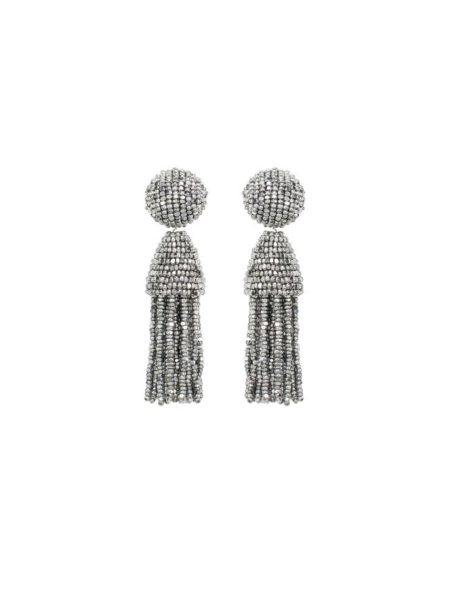 SILVER CLASSIC SHORT TASSEL EARRINGS Silver