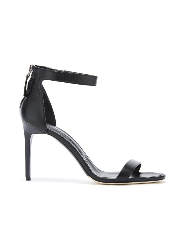 Black Leather Ange Sandals Black
