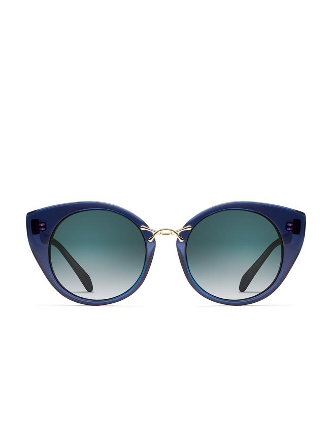 OSCAR DE LA RENTA X MORGENTHAL FREDERICS TWIST 4 SUNGLASSES NAVY / GOLD