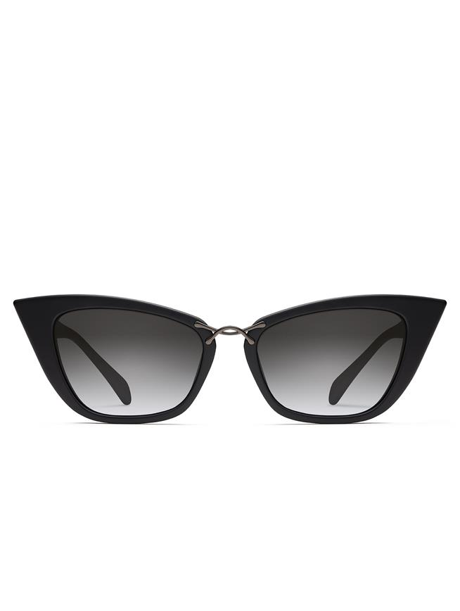 OSCAR DE LA RENTA X MORGENTHAL FREDERICS OVERSIZED TWIST SUNGLASSES Black
