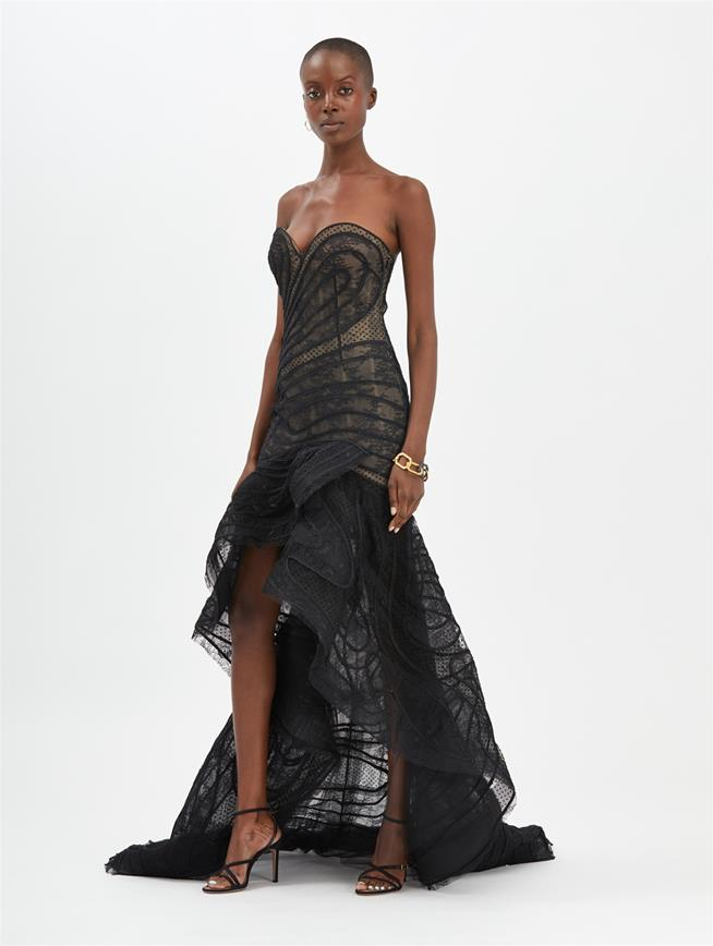Lace Gown Black