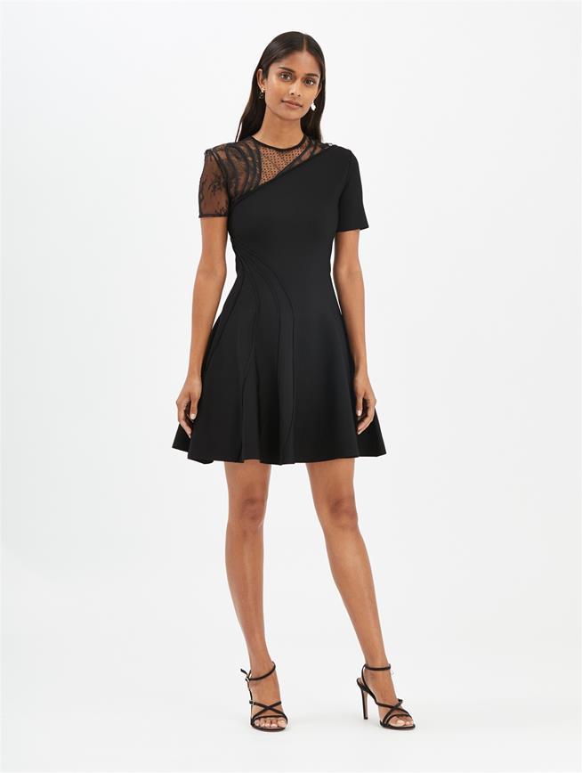 Embroidered Dress Black