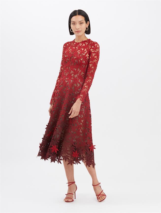 Dégradé Cocktail Dress Merlot