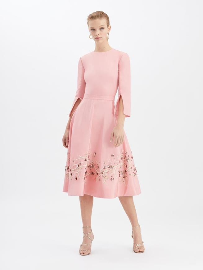 Embroidered Cocktail Dress Peony