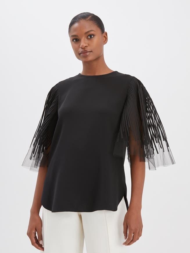 Flutter Blouse Black