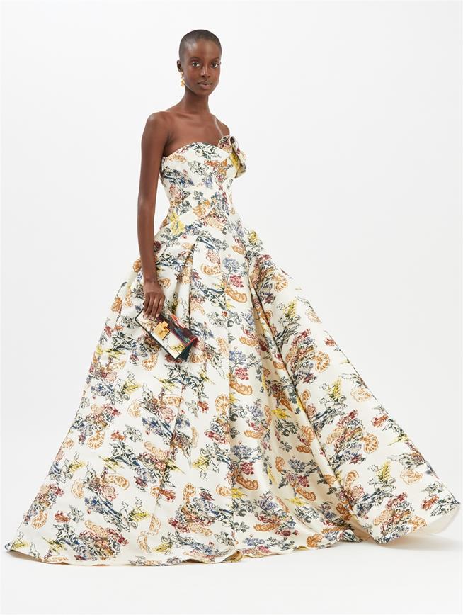 Fil Coupé Gown Ivory