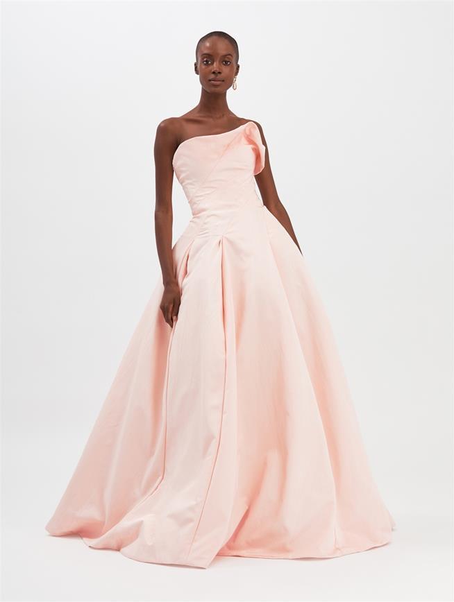 Moiré Faille Gown Blush