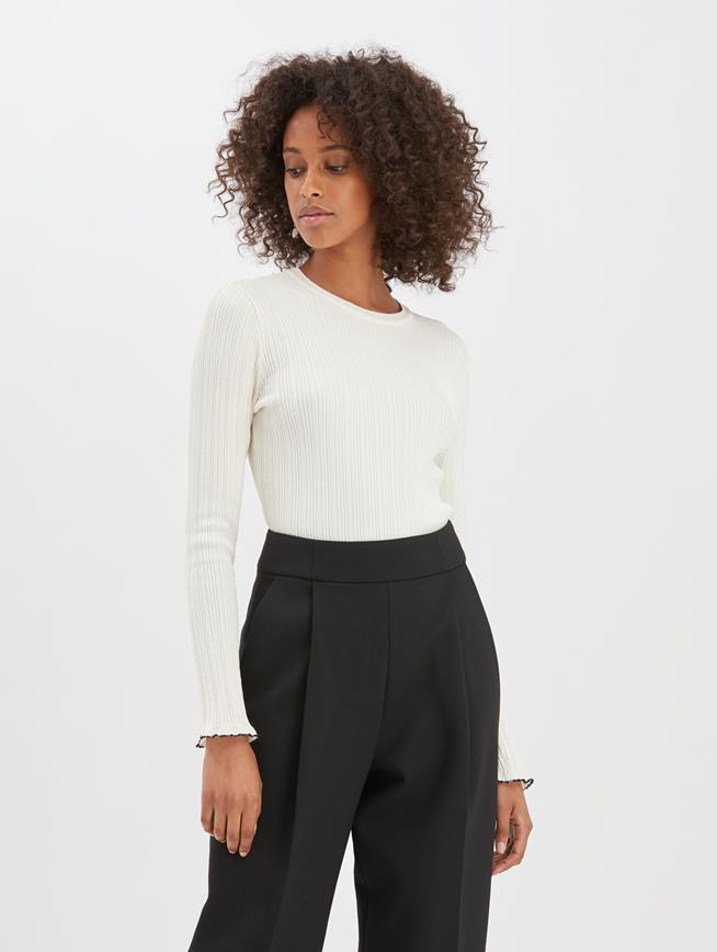 Silk-Blend Pullover Ivory
