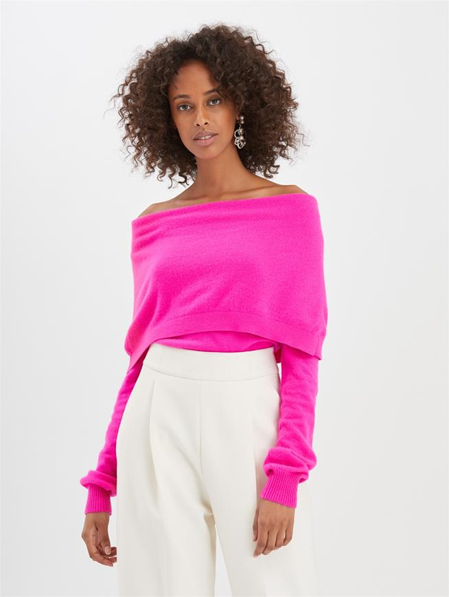 Cashmere Pullover Shocking Pink
